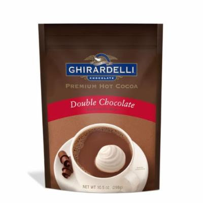 Ghirardelli, Hot Cocoa Mix, Double Chocolate, 10.5oz Pouch (Pack of 2)