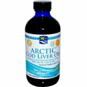 Cod Liver Oil Liquid -Orange Flavour (237mL) Arctic Molecularly distilled - Tastes Great! Brand: Nordic Naturals