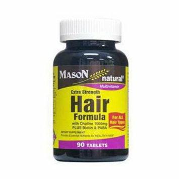 Mason Natural Hair Formula Multivitamin Extra Strength Tablets - 90 Ea