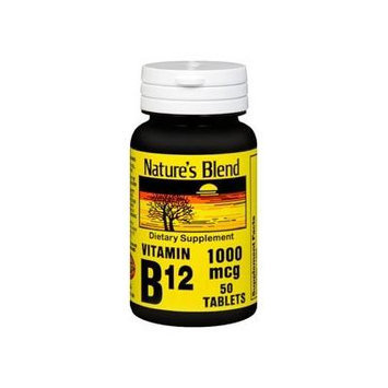 Nature's Blend Vitamin B-12, 1000 mcg, Tablet, 50 ct. (2 PACK)