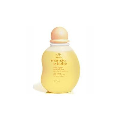 Natura - Mamãe E Bebê , ÓLeo Vegetal Para Banho Cm óLeo Passiflora , Baby Natural Vegetable Shower Oil 200ml