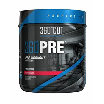360CUT 360PRE, Great Tasting Pre-Workout Activator for Optimal Muscle Fullness and Pumps, Watermelon, 40 servings (640 Grams )