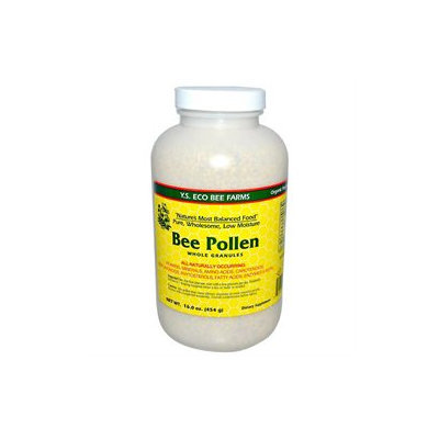 YS Royal Jelly/Honey Bee Bee Pollen Whole Granules - 16 Ounces Granules - Bee Products