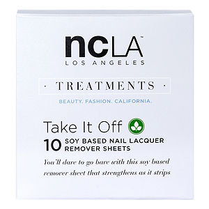 NCLA Acetone Free Remover Wipes, Take It Off, 10 ea