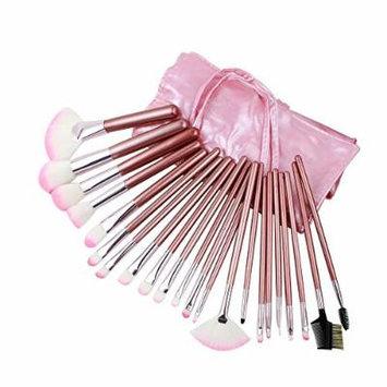 eFuture(TM) Professional Cosmetic Makeup Brush Set With Pink Bag(22pcs) +eFuture's nice Keyring