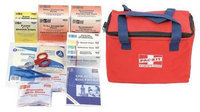 PHYSICIANSCARE 7092 First Aid Kit, Portable, Red, Fabric