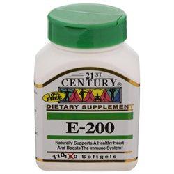 21st Century Healthcare Vitamin E 200 IU 110 Softgels, 21st Century Health Care
