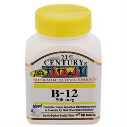 21st Century Healthcare Vitamin B-12 500 mcg 110 Tablets, 21st Century Health Care