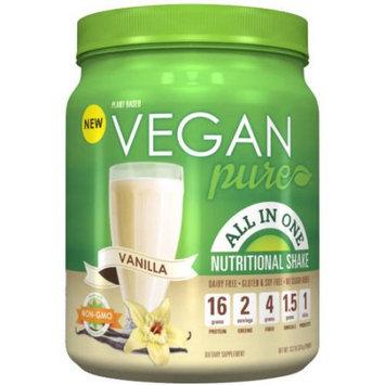 Platinum Us Distribution Vegan Pure Vanilla All In One Nutritional Shake Powder, 13.2 oz