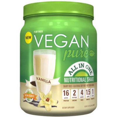 Platinum Us Distribution Vegan Pure Vanilla All In One Nutritional Shake Powder, 13.2 oz