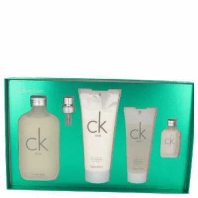 Ck One for Women by Calvin Klein, Gift Set - 6.6 oz Eau De Toilette Spray (Unisex) + 6.7 oz Body Lotion + 3.4 oz Shower Gel + .5 oz Mini