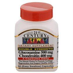 21st Century Healthcare Glucosamine & Chondroitin Double Strength 60 Capsules, 21st Century Health Care