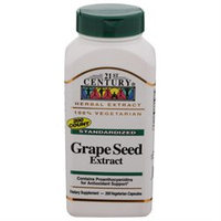 21st Century Healthcare Grape Seed Extract 200 Vegetarian Capsules, 21st Century Health Care