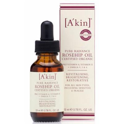 A'kin Akin Pure Radiance Rosehip Oil 23ml Certified Organic Rose Hip