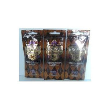 3 Packets 2014 Bronze Confessions Bronzer Tanning Lotion - .7 oz. each