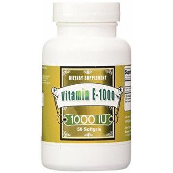 Eden Pond Vitamin E-1000 Extreme Potency Supplement, 50 Count