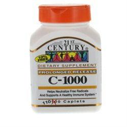 21st Century Healthcare Vitamin C 1000 mg Prolonged Release 110 Tablets, 21st Century Health Care