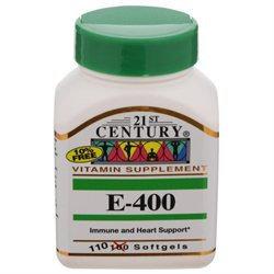 21st Century Vitamins Vitamin E 400 IU Softgels