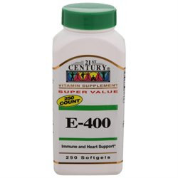 21st Century Healthcare Vitamin E 400 IU Dl Alpha 250 Softgels, 21st Century Health Care