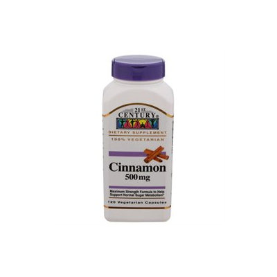 21st Century Healthcare Cinnamon 500 mg 120 Vegetarian Capsules, 21st Century Health Care