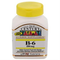21st Century Healthcare Vitamin B-6 100 mg 110 Tablets, 21st Century Health Care