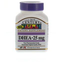 21st Century Healthcare DHEA 25 mg 90 Capsules, 21st Century Health Care