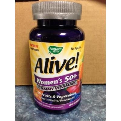 Nature`s Way Alive! Women`s 50+ Gummy Vitamins 60 ct (pack of 3)