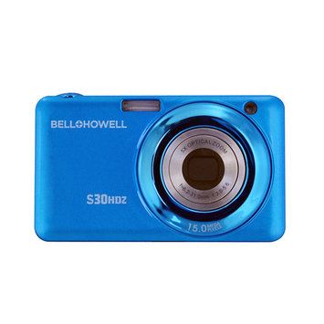 Elite Brands Inc. Bell+howell 15MP Digital Camera w/5x Optical Zoom & HD Video (Blue)