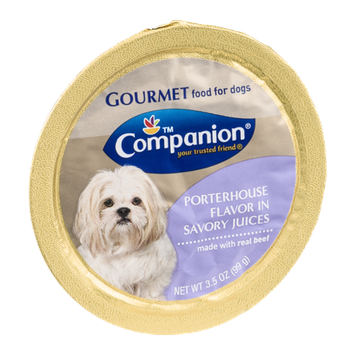 Companion Gourmet Food for Dogs Porterhouse Flavor