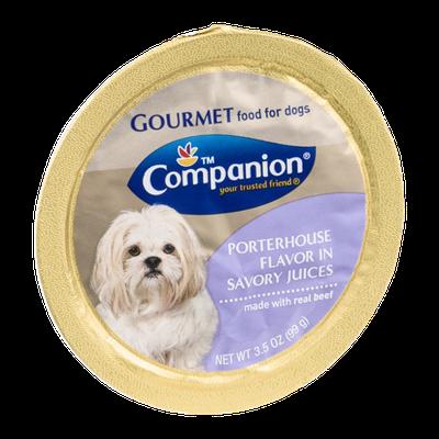 Companion Gourmet Food for Dogs Porterhouse Flavor