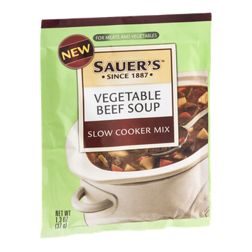 Sauer's Slow Cooker Mix Vegetable Beef Soup
