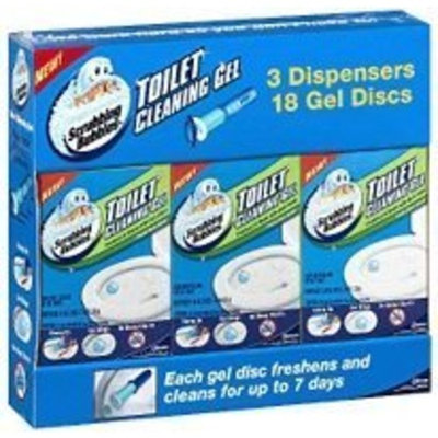 Scrubbing Bubbles Toilet Cleaning Gel, Fresh Clean Scent (3 Dispensers & 18 Gel Discs)