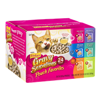 Purina Friskies Gravy Sensations Pouch Favorites Cat Food Variety Pack - 24 CT