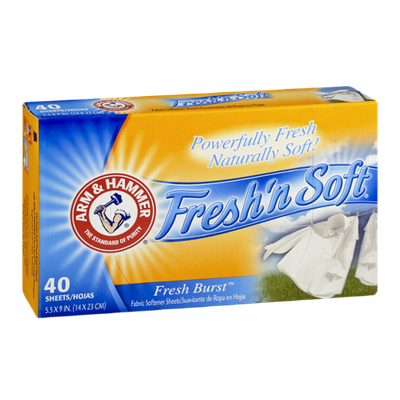 ARM & HAMMER™ Fresh 'n Soft Fresh Burst Fabric Softener Sheets