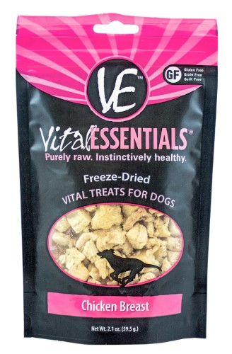 Vital Essentials Freeze Dried Chicken Breast Vital Treats for Dogs