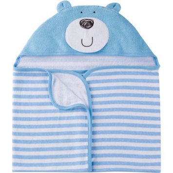 Gerber Newborn Baby Boy Terry Hooded Bath Wrap