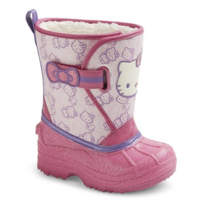 Toddler Girl's Hello Kitty Natalynn Boots - Pink XL(11-12)
