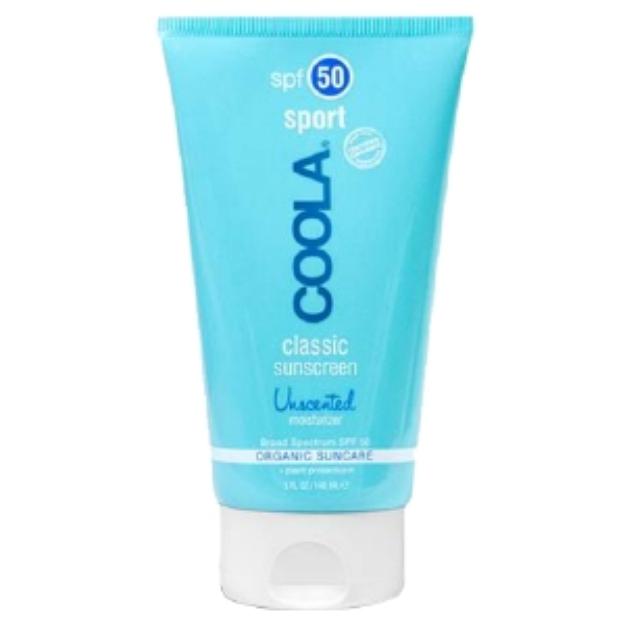 Coola COOLA Sport, Classic Sunscreen Moisturizer, Organic Suncare, SPF 50, Unscented, 5 fl oz