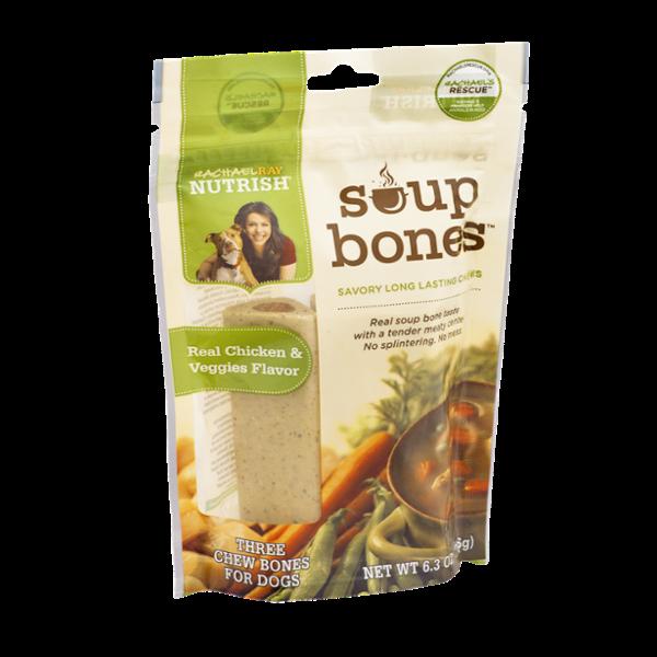 Rachael Ray Nutrish Soup Bones Real Chicken & Veggies Flavor Chew Bones for Dogs - 3 CT
