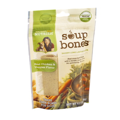 Rachael Ray Nutrish Soup Bones Real Chicken & Veggies Flavor Chew Bones for Dogs - 3 CT