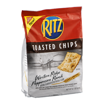 Nabisco RITZ Toasted Chips Western Ridge Peppercorn Ranch