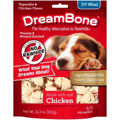 DreamBone Vegetable and Chicken Mini Dog Chews, 20-Count, 11.3 oz