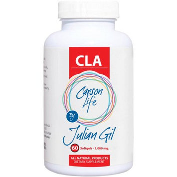 Carson Life by Julian Gil CLA Dietary Supplement Softgels, 1000mg, 60 count