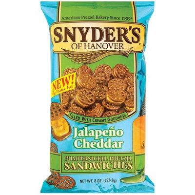 Snyder's Of Hanover Snyder's Of Hanover Pumpernickel Jalapeno Cheddar Pretzel Sandwiches, 8 oz