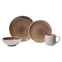 Baum Bros. Mercer Mushroom 16 Piece Dinneware Set - Light Brown