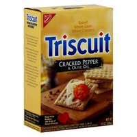 Triscuit Nabisco  Cracked Pepper and Olive Oil Crackers 9.5 oz