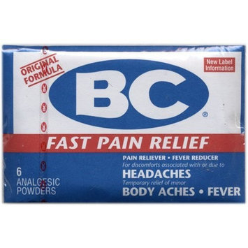 BC Powders BC Fast Pain Relief Powder, New Formula - 6 Analgesic Powders ea
