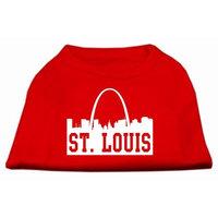 Mirage Pet Products 5174 XXLRD St Louis Skyline Screen Print Shirt Red XXL 18