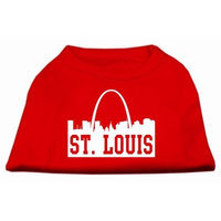 Mirage Pet Products 5174 SMRD St Louis Skyline Screen Print Shirt Red Sm 10