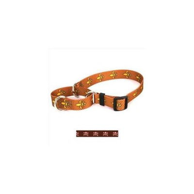 Yellow Dog Design M-BPSK102M Brown and Pink Skulls Martingale Collar - Medium